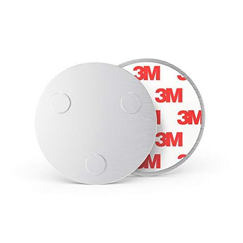 Sonero MH-070 magneethouder voor rookmelders (koolmonoxidedetector en andere producten) diameter 70 mm extra sterke magneten 1er Set zilver