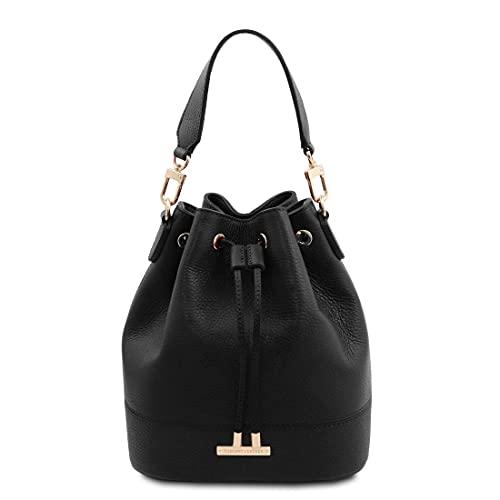 Tuscany Leather. TLBag - Borsa secchiello in pelle - TL142146 (NERO)