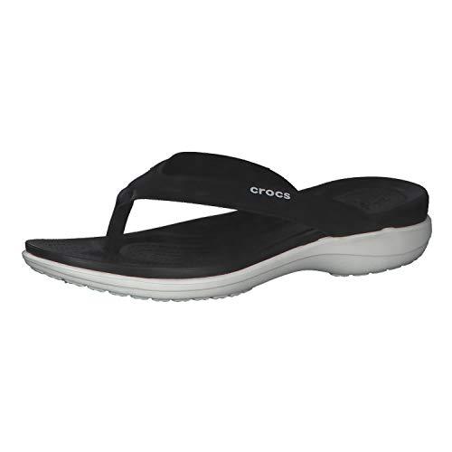 Crocs Mujer Capri V Sporty Flip, Black, 38-39