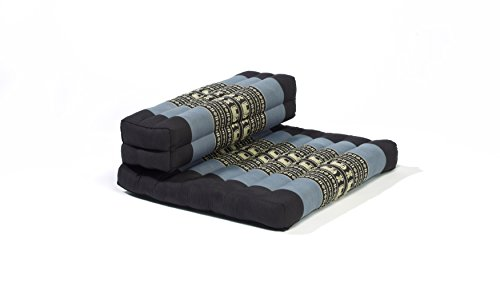 My Zen Home Dhyana Meditation Cushion, 21' by 4' by 26', Blue/Black
