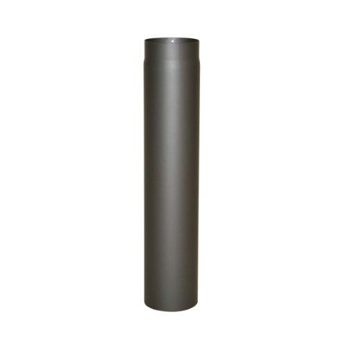Kamino Flam Ofenrohr gussgrau, Rauchrohr aus Stahl für sichere Ableitung von Verbrennungsgasen, hitzebeständige Senotherm Beschichtung, geprüft nach Norm EN 1856-2, Maße: L 750 x Ø 120 mm