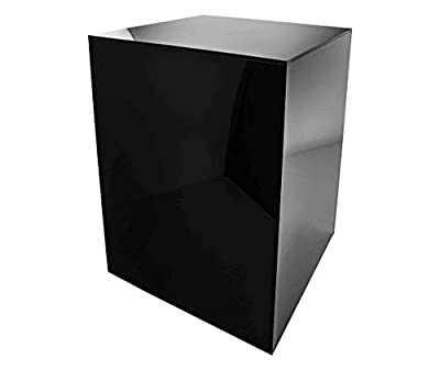 Marketing Holders Black Platform Display Box Art Glossy Sculpture Pedestal Collectible Cube Cover Trophy Trinket Acrylic Showcase Stand Expo Event Wedding Reception 5 Sided from Marketing Holders