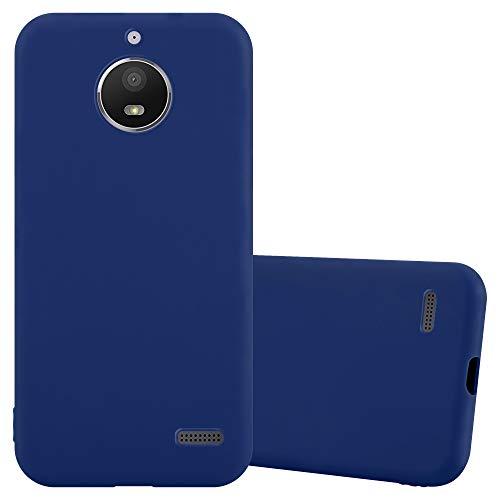 Cadorabo Hülle für Motorola Moto E4 in Candy DUNKEL BLAU - Handyhülle aus flexiblem TPU Silikon - Silikonhülle Schutzhülle Ultra Slim Soft Back Cover Hülle Bumper