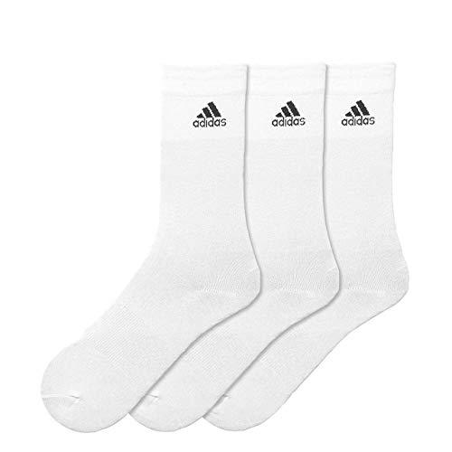 Adidas - Per Crew - Chaussettes (3 paires) - Mixte Adulte - Blanc - 39-42