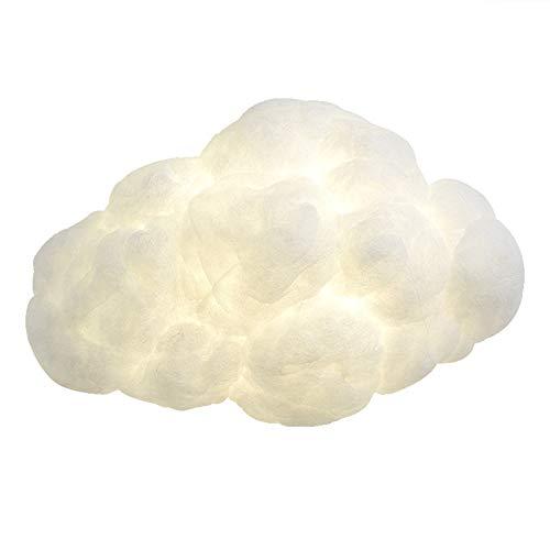 QEGY Lampara Pared Infantil Nube Creativo Moderno, LED Aplique de Pared con Paralume in Algodón y E27 Socket 2 llamas, Bañadores de pared para Habitación de Niños Guardería Decoración,Warm light