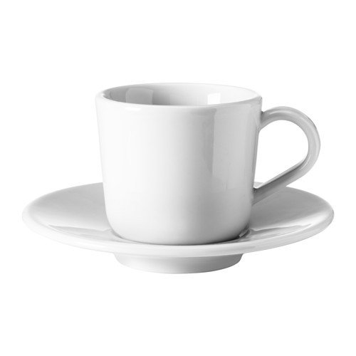IKEA 365+ Espressotasse mit Untertasse; in weiß; (6cl)