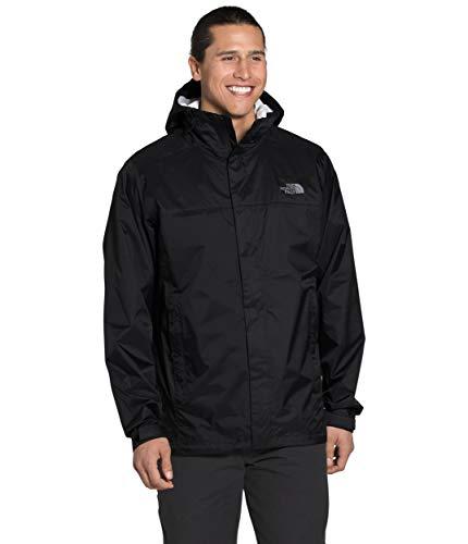 The North Face Men's Venture 2 Jacket—Tall, TNF Black/TNF Black/Mid Grey, L