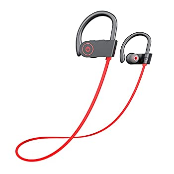 Otium Bluetooth Headphones,Wireless Earbuds IPX7 Waterproof Sports Earphones with Mic HD Stereo Sweatproof in-Ear Earbuds Gym Running Workout 8 Hour Battery Noise Cancelling Headsets