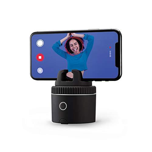 Pivo Pod Silver - Schneller, auto-tracking Pod für kreativen Content - 360° freihändige Fotos und Videos - Auto Zoom - Videoanrufe - Smarter Kameramann - für iPhone und Android