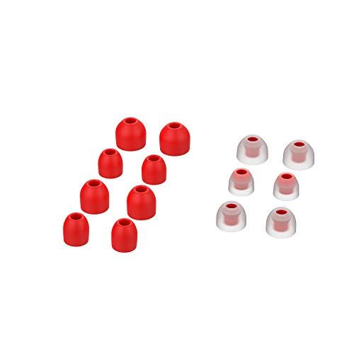 Chofit Funda de tapones para los oídos compatible con Sony WF-1000XM4/WF-1000XM3 para auriculares in-Ear buds de silicona suave almohadillas para orejas para auriculares WF-1000XM4 (rojo)