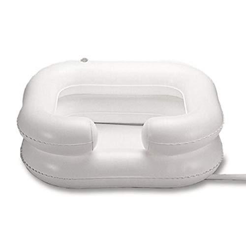 Lavabo inflable de PVC para el pelo, ducha portátil con tubo de drenaje, lavar el pelo en la cama para personas mayores, discapacitados, encuadernado con tubo de drenaje