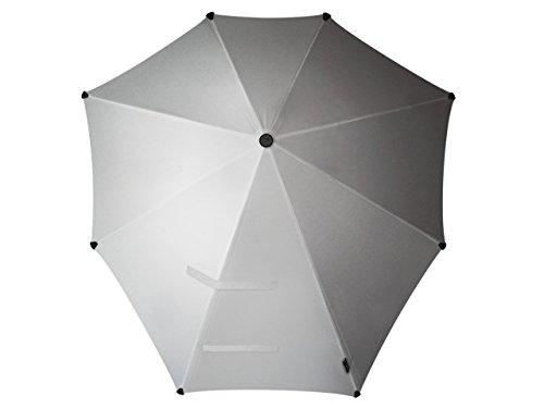 Senz° Original Regenschirme Nie Aus Der Mode Stockschirme - Glänzendes Silber