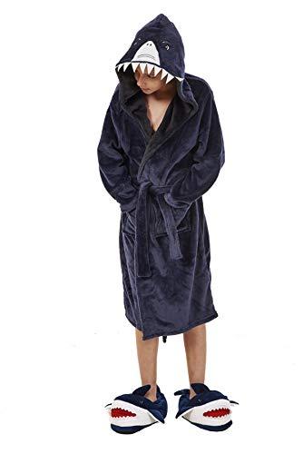 Herren/Kinder Fleece-Bademantel, Einteiler mit Tiergesichts-Kapuze – Herrengrößen S – XL, Kinder im Alter von 7–13 Jahren Gr. 9-10 Jahre, multi