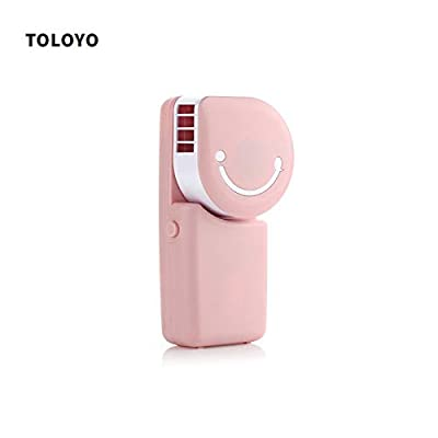 SaveStore Mini Portable Hand Held Desk Air Conditioner Humidification Cooler Cooling Fan Smile Face USB Rechargeable Hand Fans for Outdoor