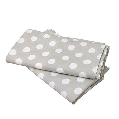 Rideau de lit PuckDaddy Smilla home - 146 x 298 cm, ensemble de 2 baldaquins en tissu 100% coton gris à pois, rideau de lit de haute qualité pour la chambre des enfants