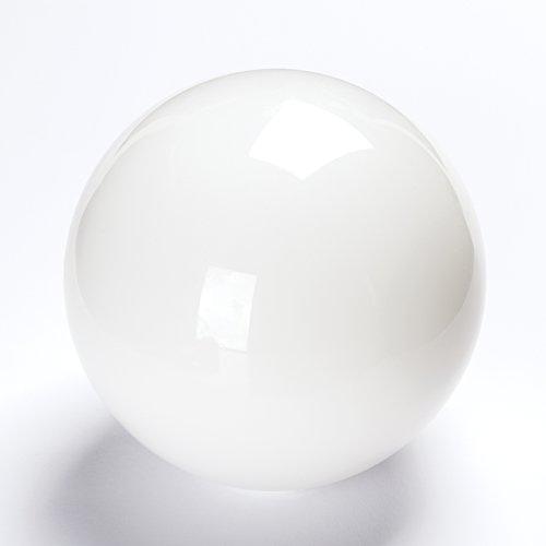Glas Kugel 135mm weiß glänzend für Lochmaß E14 42mm Glaskugel Ersatzglas