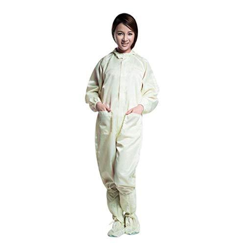 TianranRT Männer Und Frauen Universal Antistatisch Kleidung Reinigen Arbeitskleidung mit Kapuze Overall Workshop Overalls(Gelb,XL)