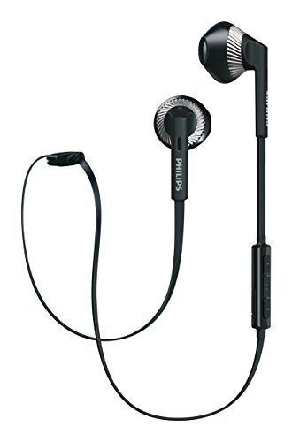 Philips SHB5250BK MyJam Fresh Tones - Auriculares Bluetooth (micrófono, Cable Plano antienredo, diseño Abierto), Color Negro