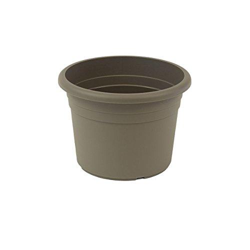 Jardinera greemotion Fiona, maceta de plástico resistente a los rayos UV, maceta con orificios inferiores, volumen aprox. 18 l, aproximadamente Ø 40 x H 26 cm