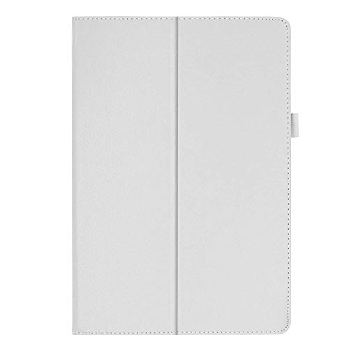 Compatible with For Lenovo Tab M10 TB-X605F Case PU Folding Folio Case Magnetic Cover Tab M10 M 10 X605 X605f Tablet Protective Shell Skin funda-white