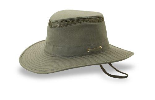 Tilley T5MO Airflo Mütze aus Bio-Baumwolle, Damen Unisex-Erwachsene, olivgrün, 7