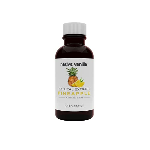 Native Vanilla - Pineapple Flavoring – 2 oz - Perfect for Cooking, Baking, and Dessert Crafting