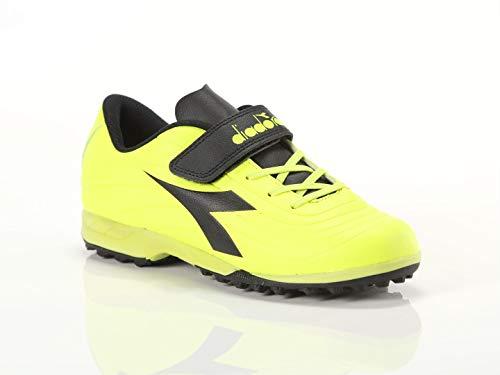 Diadora, Bambino, Pichichi 2 Tf Jr Ve Yellow Black, Ecopelle, Calcio, Giallo, 36