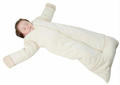 MTTLS saco de dormir del bebé NWYJRBebé bolsa de dormir de algodón orgánico y seda desmontable Swaddle Wrap manta