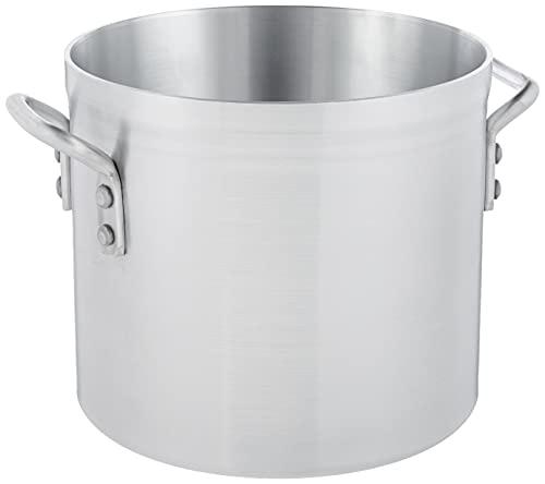 Winco USA Super Aluminum Stock Pot, Heavy Weight, 12 Quart, Aluminum