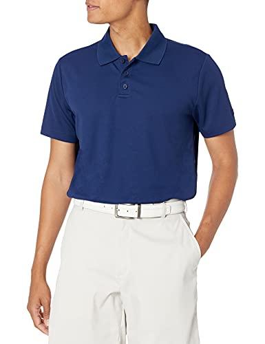 Starter Men's Short Sleeve Tech Golf Polo Shirt, Amazon Exclusive, Team Navy, Large