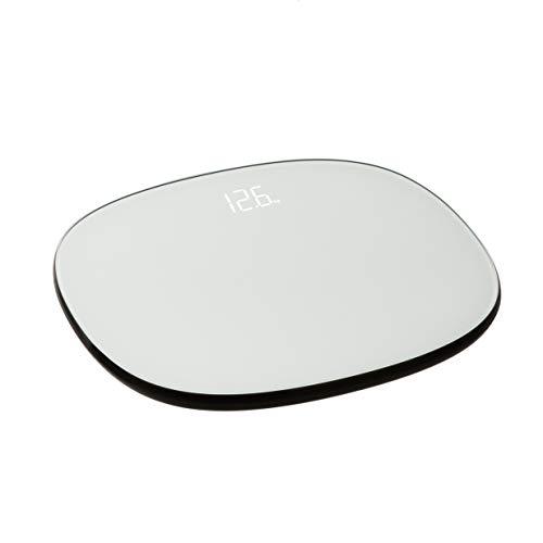 Amazon Basics Personenwaage, 150 kg, automatische An-/Aus-Funktion und LED-Anzeige, Grau
