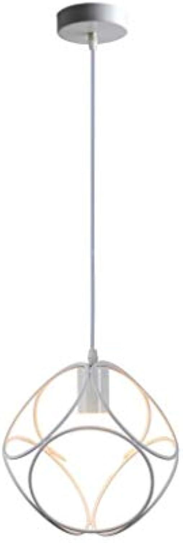 BYDXZ   E27 Pendelleuchte Moderner Pierced Design Hexahedral Matt Weies Eisen Hngelampe Persnlichkeit Kreative Einfache Deco Hhenverstellbar Pendelleuchte Max 40W 24cm 230V Studie Küche