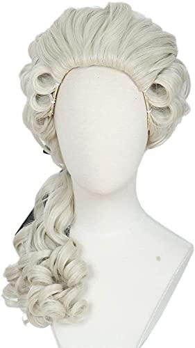 Abogado Curly Wig Light Blonde Halloween Cosplay Costume Peluca for fiesta chenghuax