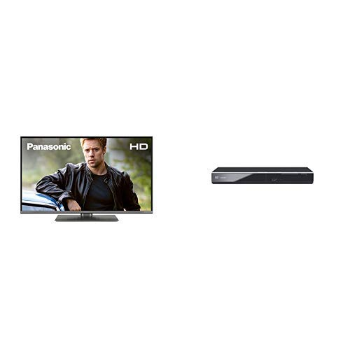Panasonic TX-32GS352, 32 inch LED HD Smart TV and DVD-S700EB-K DVD Player with Scart & HDMI input