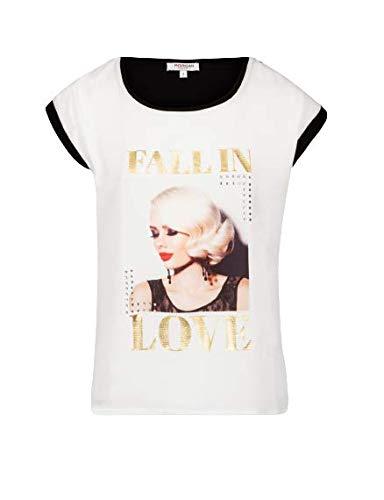 Morgan Tshirt DBLONDI Camiseta, Off White, TS para Mujer