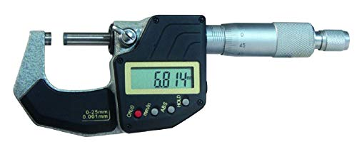 MIB Digital-Bügelmessschraube, ABS Mikrometer-Schraube zur AUSWAHL: 25-50 mm