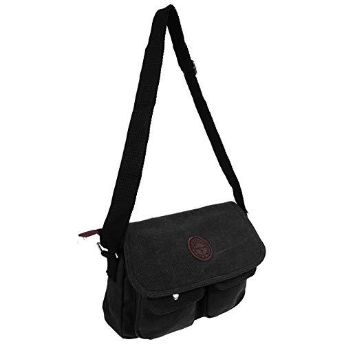 SOIMISS 1 bolso bandolera de hombre delicado bolso de tela Chic bolso bandolera masculino a la moda Negro Size: 27X19X6cm