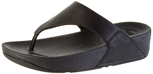 FitFlop Women's Lulu Thong Sandal,Black,7 M US