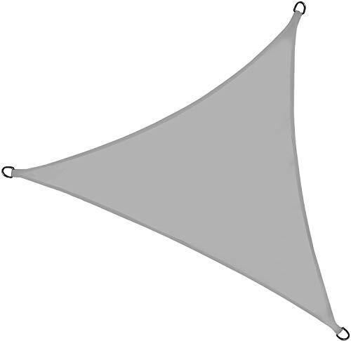osoltus Sonnensegel Verschiedene Größen, Farben und Formen (3m x 2m, dunkelgrau)