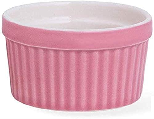 XQMY Cuenco Cuenco para bocadillos, vajilla, Cuenco de cerámica para soufflé, Molde para Hornear, Cuenco de pudín de gelatina, cerámica, Rosa, púrpura, Azul, 8,3 cm para Regalos de Cocina y resta