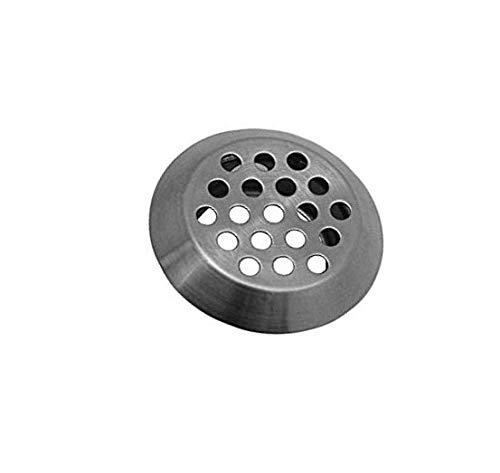 Ventilatierooster van roestvrij staal 10x afvoerrooster afvoerkap ventilatierooster tocht terrarium rond universele ventilatieplaat ventilatie Ø 40mm