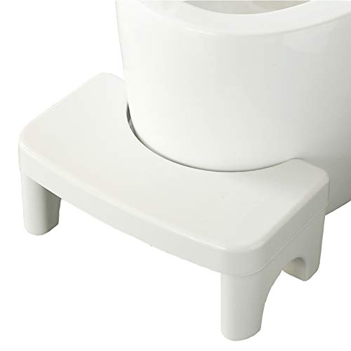 Toilet Stool for Adult Convenient and Compact Bathroom Foot Stool 6.7'Height White