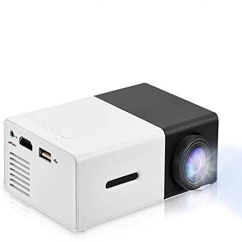 Mini Projector Portable 1080P LED Video Projector Home Cinema Theater Movie projectors Support Laptop PC Smartphone HDMI Input Great Gift Pocket Projector for Party and Camping(Black)
