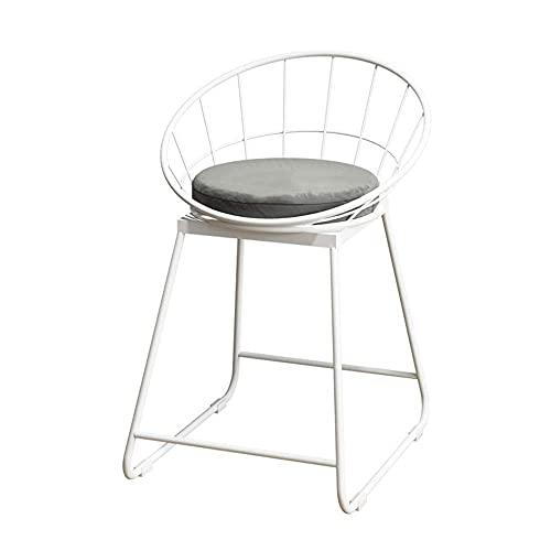 XPfj Taburetes de cocina blanca patas de mesa de hierro forjado, taburete de bar, taburete de bar, taburete de bar, silla creativa, taburete de café y vino (color: gris, tamaño: 44 x 42 x 75 cm)