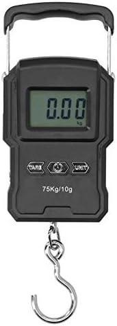 Weegschaal WHA22L Digitale weegschaal met achtergrondverlichting digitaal zwart weeginstrument voor expresbezorging aan huis bagage