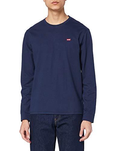 Levi's Original HM Tee T-Shirt, Ls Cotton + Patch Dress Blues, XL Homme