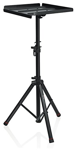Gator Frameworks Heavy Duty Deluxe Adjustable Multi-Media Gear Stand Featuring 100x100 Vesa Mounting Brackets   Ideal for Laptops and more; Min/Max Height - 36/48 (GFW-UTL-MEDIATRAY2)