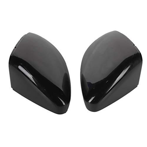 Rückspiegel Abdeckung, Fydun 1 Paar Auto Seite Rück Spiegel Abdeckung ABS Kunststoff Spiegelkappen (Bright Black)