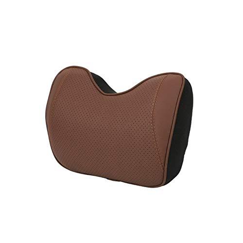 UNDKI Auto Seat Headrest Auto Car Headrest Neck Pillow Lumbar Back Support Head Restraint Cushion for Driver Memory Foam Car Pillows for Lower Back Car Pillow (Color : 1pc brown pillow)