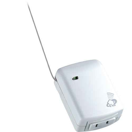 Leviton HCPRF-1TW DHC 120V AC 60 Hz, 300W Max 60W Min Incandescent, Green, Plug-In RF Transceiver, White